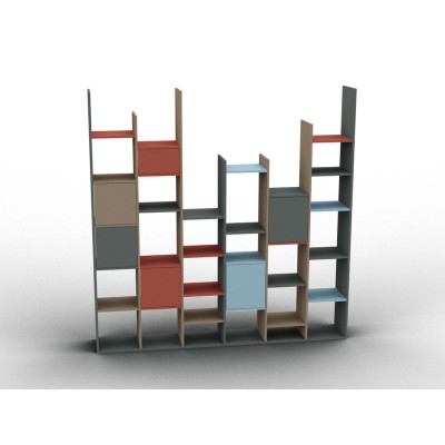 Variable height bookshelf