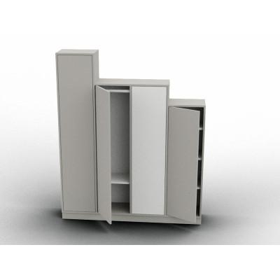 Variable height wardrobe