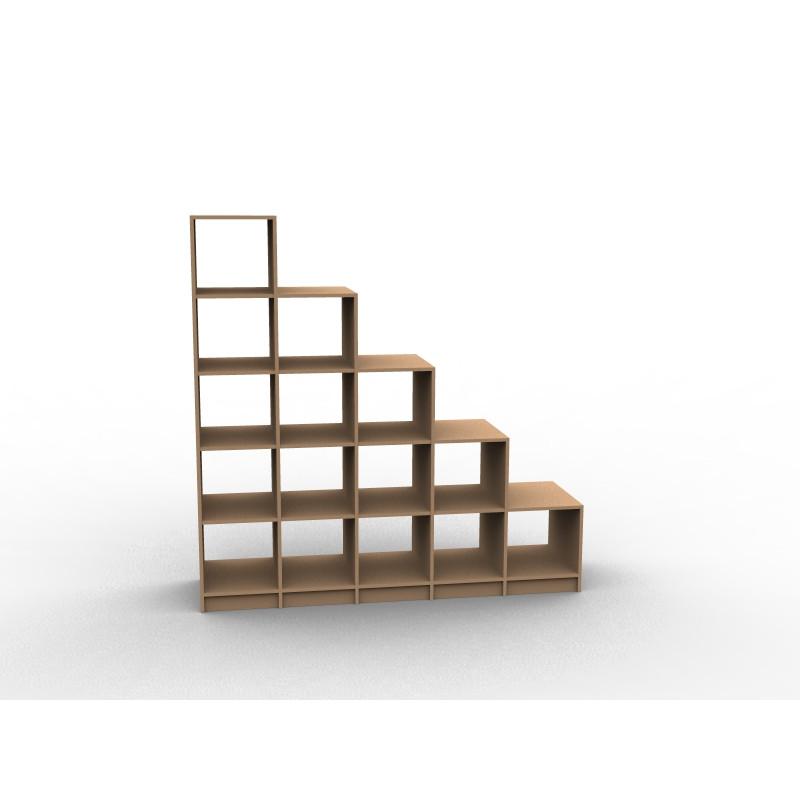 Meuble en escalier sur mesure