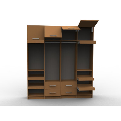 Custom storage wood