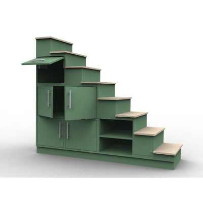 Storage staircase cube wardrobe