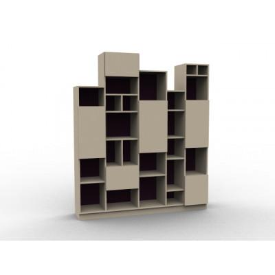 Grande bibliothèque destructurée acacia