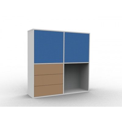 Commode coloré avec porte
