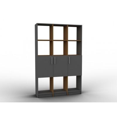 Meuble claustra haut bois et noir