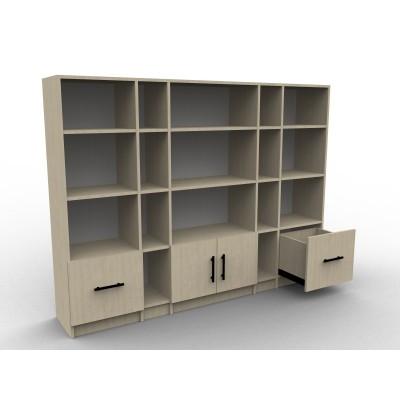 Bibliothèque sur mesure en bois sur mesure, modèle Imaginall