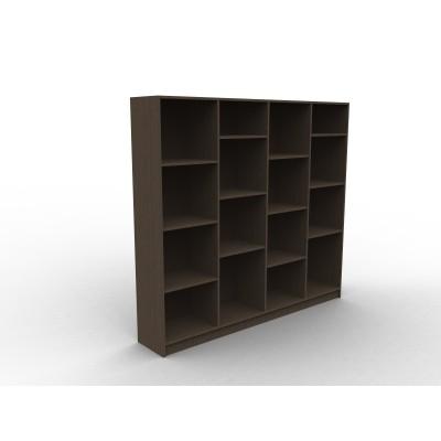 Bibliothèque sur mesure en bois, modèle Straf