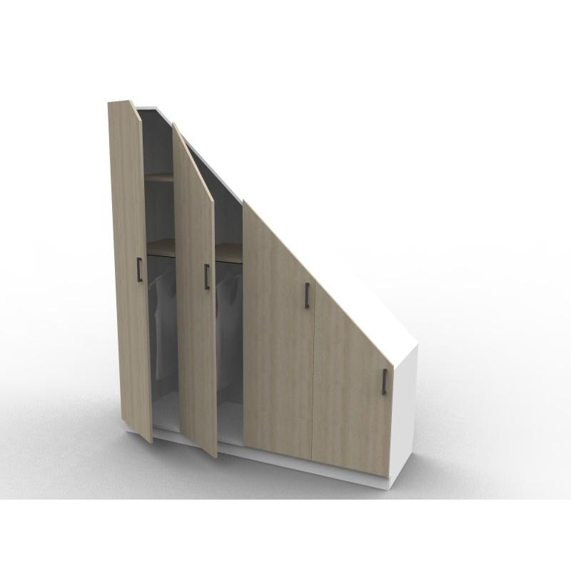 charmant Placard sous escalier sur mesure série Isabelle avec portes