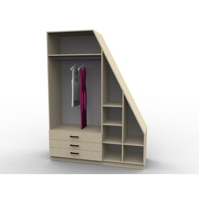Wardrobe under staircase