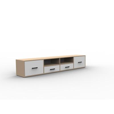 Meuble TV rangement bois sur mesure