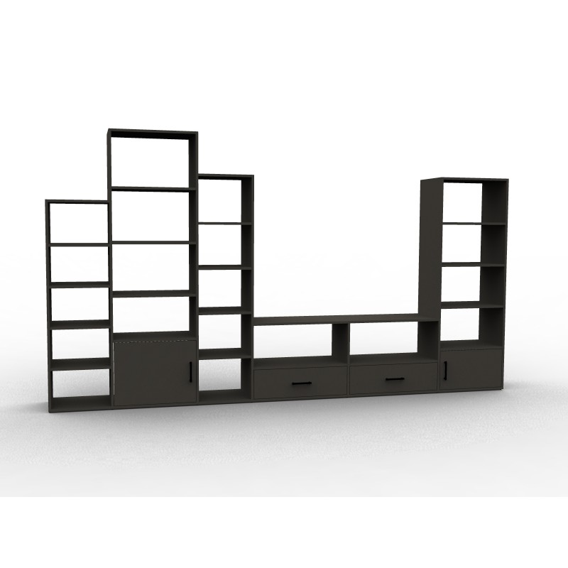 biblioth que meuble tv rangements sur mesure aryga. Black Bedroom Furniture Sets. Home Design Ideas