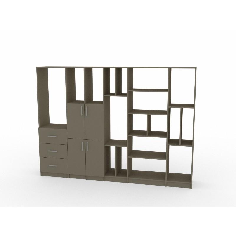 Colorful Wood Custom Bookcase