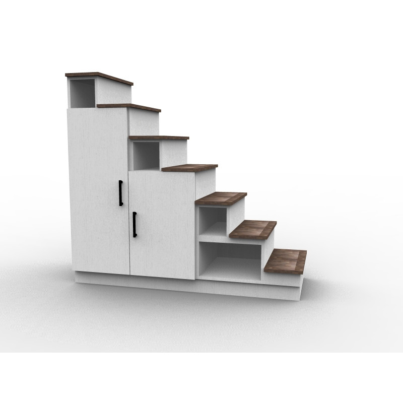 Staircase with custom-made storage